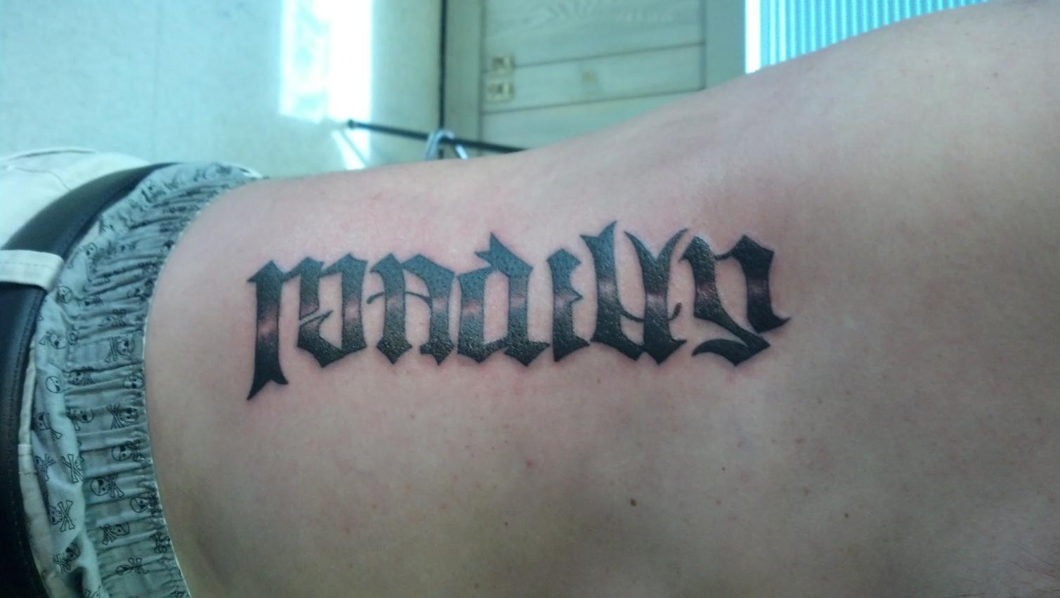 Unspiked Mohawk Name Tattoo R jpg Views 1341